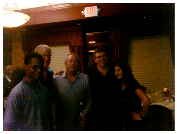 (R-L) Me, Glenn, Andrew, Jim, our friend Adrian