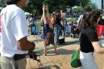 The famous Victoria Jackson handstand. Photos - Loesch.